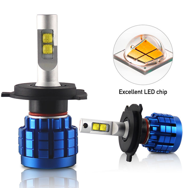 XPH50 H11 Led Headlight Bulbs Die Casting Aluminum Housing Material